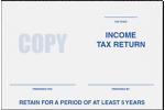 6 x 9 Tax Return Booklet Envelopes
