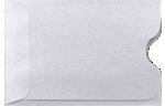 Credit Card Sleeve Envelopes Silver Metallic