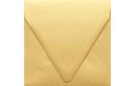 5 x 5 Square Contour Flap Envelopes Gold Metallic
