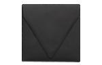 5 x 5 Square Contour Flap Envelopes Midnight Black