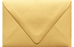 A1 Contour Flap Envelopes Gold Metallic