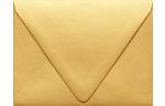 A2 Contour Flap Envelopes Gold Metallic