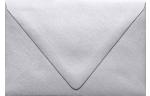 A4 Contour Flap Envelopes Silver Metallic