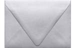 A6 Contour Flap Envelopes Silver Metallic