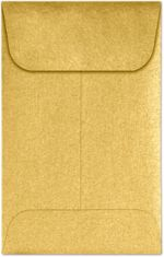 #1 Coin Envelopes (2-1/4 x 3-1/2) Gold Metallic