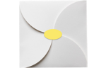 2.5 x 1.375 Oval Labels, 21 Per Sheet Pastel Yellow