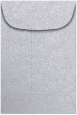 #4 Coin Envelopes (3 x 4-1/2) Silver Metallic