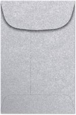 #4 Coin Envelopes (3 x 4-1/2) Silver Metallic