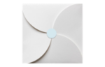 1.625 Circle Labels, 24 Per Sheet Pastel Blue