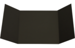 6 1/4 x 6 1/4 Gatefold Invitation Black Linen