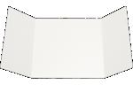 6 1/4 x 6 1/4 Gatefold Invitation White Linen