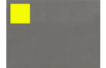 1.5 x 1.5 Square Labels, 35 Per Sheet Fluorescent Yellow