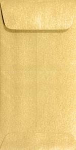 #7 Coin Envelopes (3 1/2 x 6 1/2) Gold Metallic