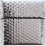 7 x 6 3/4 Glamour Bubble Mailers Silver