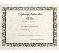 8 1/2 x 11 Certificates - Participation