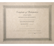 8 1/2 x 11 Certificates - Participation
