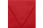 5 x 5 Square Contour Flap Envelopes Ruby Red