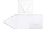 6 x 6 Pocket Invitations 80lb. Bright White