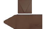 6 x 6 Pocket Invitations Chocolate