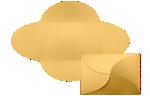 A7 Petal Invitations Gold Metallic