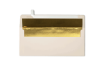 #10 Square Flap Lined Envelopes Natural w/Gold LUX Lining