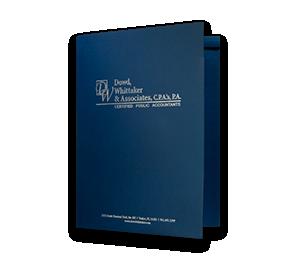 "9 x 12 Presentation Folders - One Pocket (Left) w/ Document Attachment Tab & 1/4"" Double Scored Spine | Folders.com"