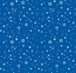 A7 Drop-In Envelope Liners (6 15/16 x 6 5/8) Blue Snowflakes