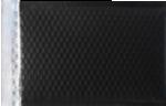 6 1/2 x 10 1/2 - LUX Matte Metallic Bubble Mailer Black