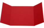 6 1/4 x 6 1/4 Gatefold Invitation Ruby Red