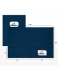 9 x 12 Presentation Folders - Standard Two Pocket w/ Front Cover Center Card Slits