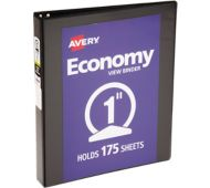 "1"" Economy View Poly Binder w/Round Rings"
