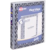 "1"" Flexi-View Binder with Round Rings"