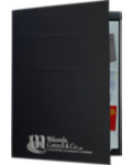 "9"" x 12"" Presentation Folders - One Pocket (Left) w/ Document Attachment Tab & 1"" Double Scored Spine"