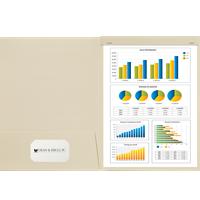 9x12 Presentation Folder with Staple Tab - Optional Window