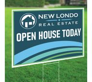 24 x 36 Full Color Plastic Yard Sign 2 Sided with 4mm White Corrugated Plastic Envelopes