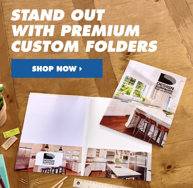 Stand Out With Premium Custom Folders!