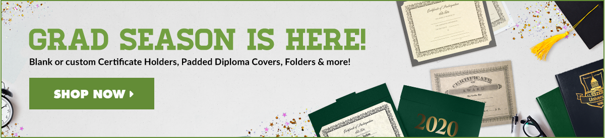 Graduation Folders, Certificate Holders, Diploma Covers and more! | Folders.com