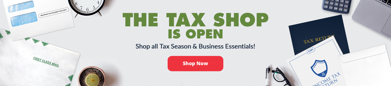 The Tax Shop is Open! | Envelopes.com