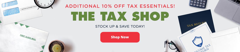 The Tax Shop is Open!   Envelopes.com